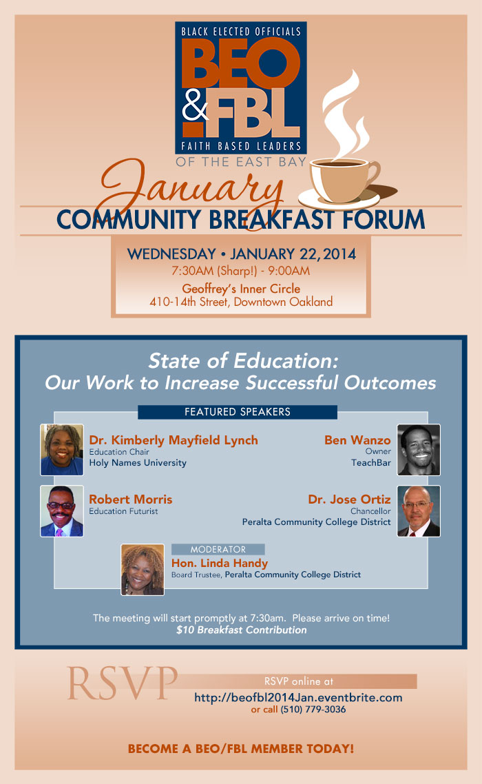 BEO&FBL January Breakfast Forum on The State of Education